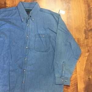 DEADSTOCK VINTAGE PARIS LAS VEGAS DENIM BUTTON UP